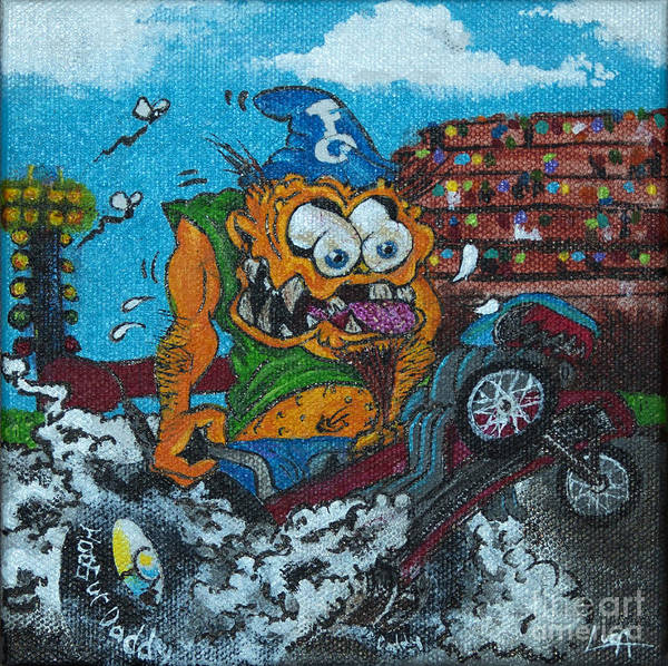 Painting - Dragster Fink by Tom Luca