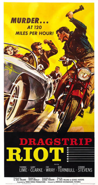 1958 Movies Photograph - Dragstrip Riot, Us Poster Art, 1958 by Everett