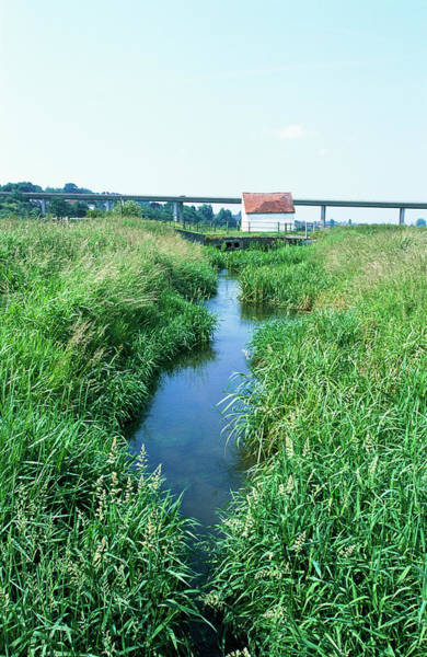 Drainage Photograph - Drainage Channel by Leslie J Borg/science Photo Library
