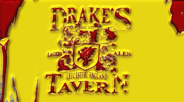 Digital Art - Drakes Tavern Yellow And Red by Alec Drake