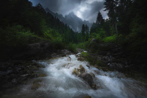 Cold Weather Wall Art - Photograph - Drama In Dolomites #2 by Luca Rebustini
