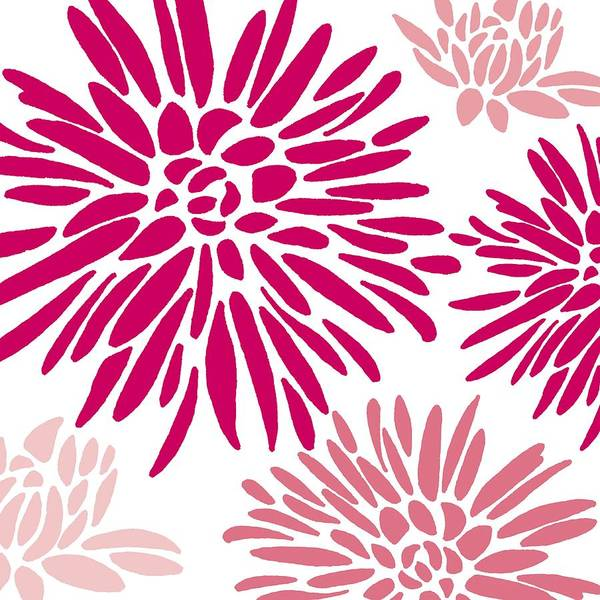 Flower Pattern Painting - Drama Queen by Sarah Hough