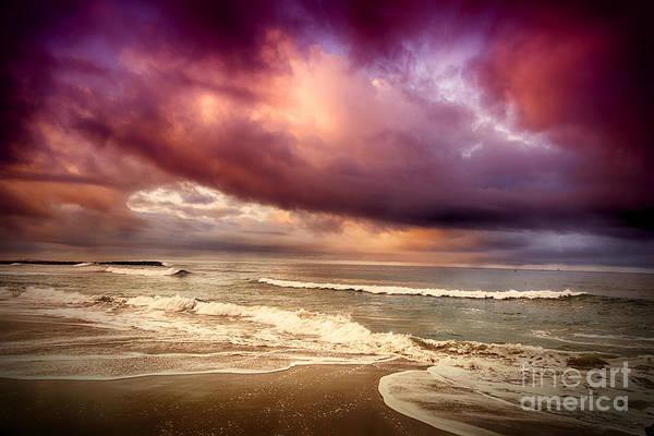 Dramatic Beach Art Print