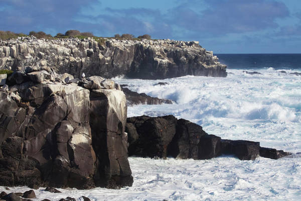 Wall Art - Photograph - Dramatic Cliffs,with Rocky Bay by Chris Caldicott