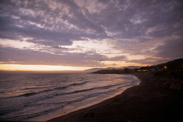 Cambria Photograph - Dramatic  Clouds Over Shoreline At Dusk by Barry Winiker