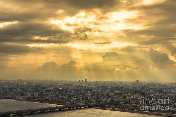 Photograph - Dramatic Light In Osaka by Didier Marti