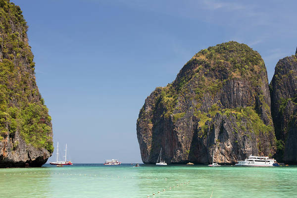 Dramatic Rocks Of Maya Beach, Phi Phi Art Print