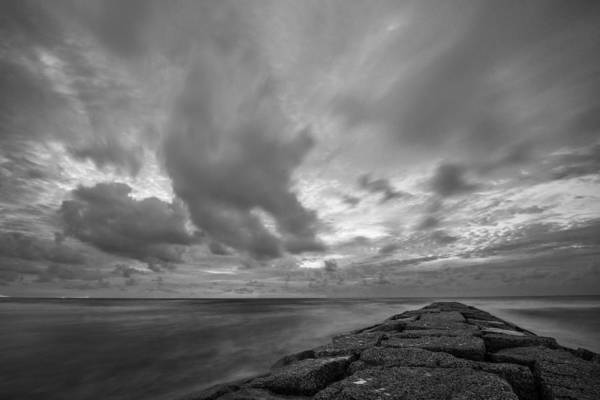 Photograph - Dramatic Skies Over Galveston Jetty by Todd Aaron
