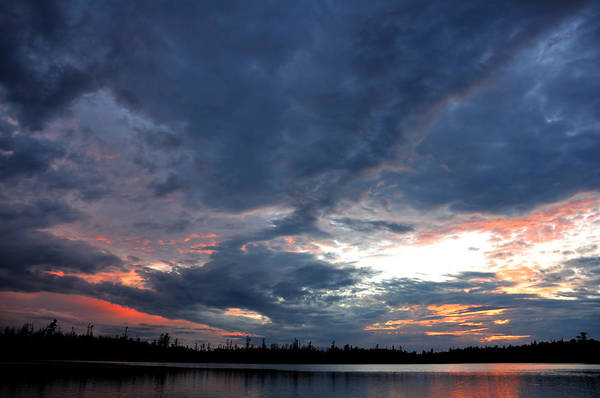 Bwcaw Photograph - Dramatic Sky On A Remote Wilderness Lake At Sunset by Mark Herreid