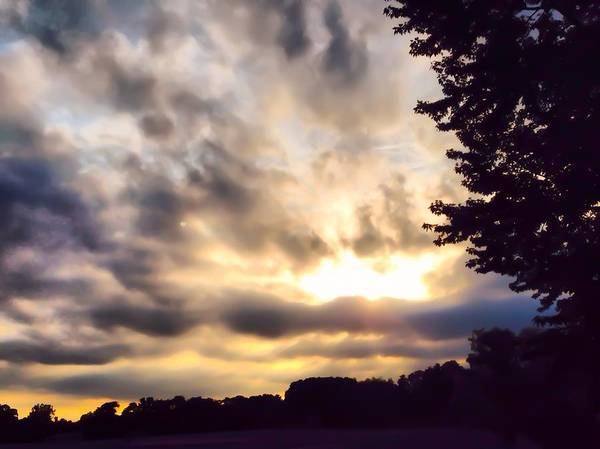 Photograph - Dramatic Sunset by Chris Montcalmo