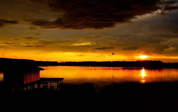 Photograph - Dramatic Sunset by Parker Cunningham