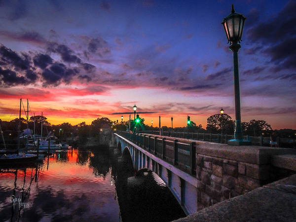 Photograph - Drawbridge Sundown  by Glenn Feron