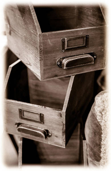 Photograph - Drawers by Michael Hope