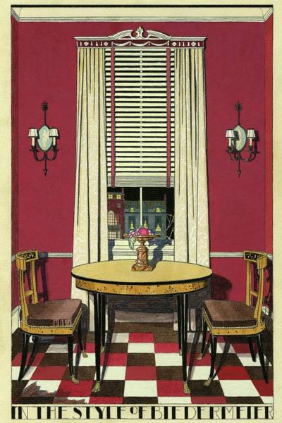 House Digital Art - Drawing Of A Breakfast Room by Harry Richardson