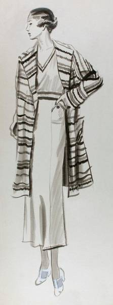 Digital Art - Drawing Of A Model Wearing Tennis Dress by Lemon