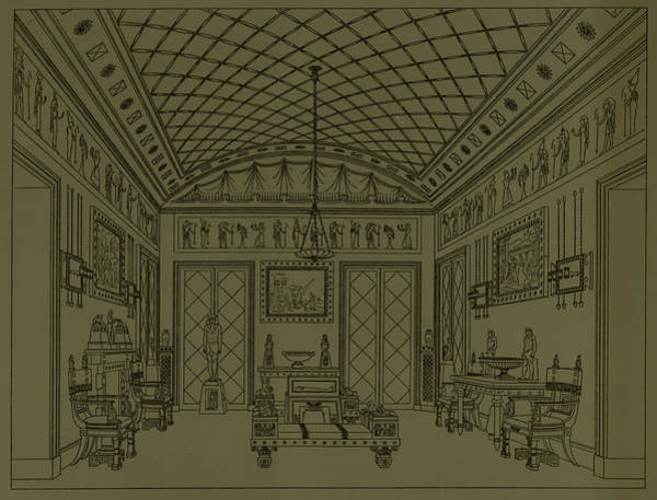 Egypt Drawing - Drawing Room With Egyptian Decoration by