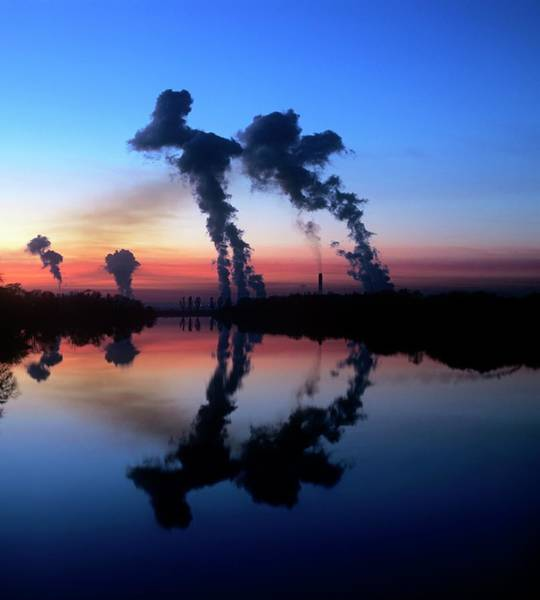 Cooling Tower Photograph - Drax Coal-fired Power Station by Martin Bond