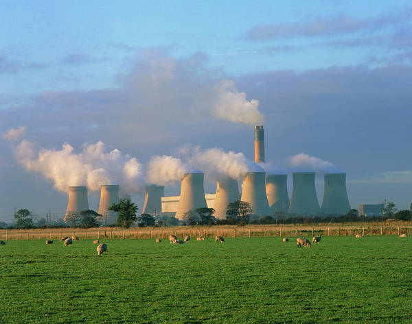 Carbon Wall Art - Photograph - Drax Coal-fired Power Station by Martin Bond/science Photo Library