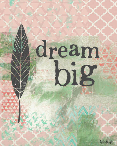 Nursery Painting - Dream Big by Katie Doucette