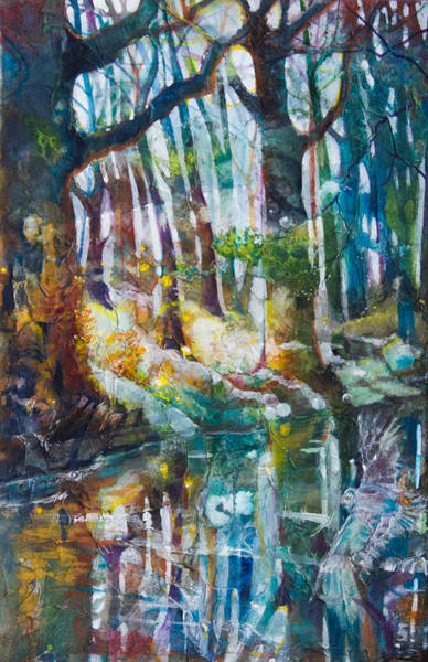 Sycamore Painting - Dream By The Stream by Patricia Allingham Carlson