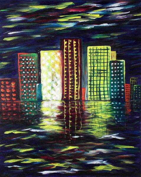 Painting - Dream City by Anastasiya Malakhova