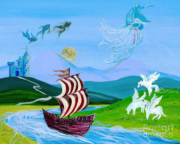 Mixed Media - Dream Cruise by Lizi Beard-Ward