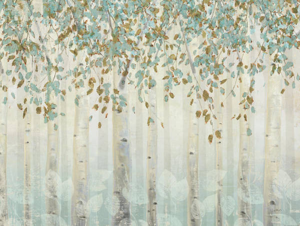 White Birch Trees Wall Art - Painting - Dream Forest I by James Wiens