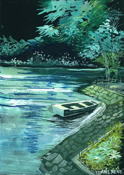 Painting - Dream Lake by Anil Nene