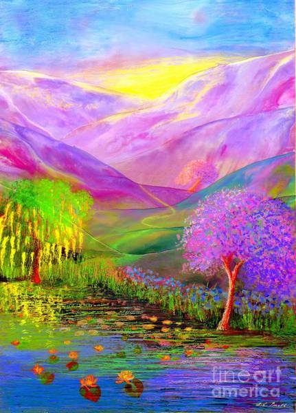 Field Of Flowers Wall Art - Painting - Dream Lake by Jane Small