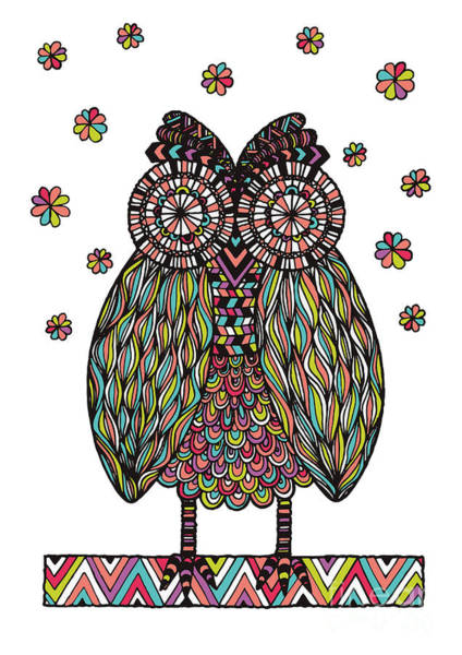 Owl Wall Art - Digital Art - Dream Owl by MGL Meiklejohn Graphics Licensing