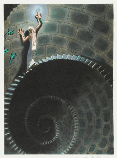 Paranormal Drawing - Dream Situation   The Dream Of Heights by Mary Evans Picture Library