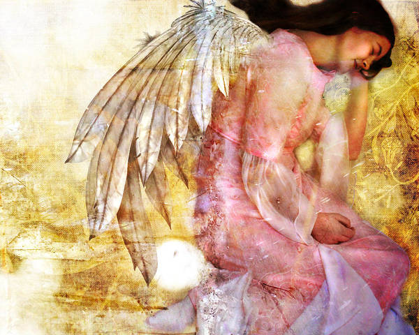 Digital Art - Dreaming Angel by Nada Meeks