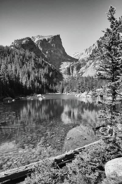 Photograph - Dreaming At Dream Lake - Black And White by Harold Rau