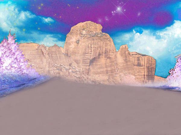 Planets And Moons Digital Art - Dreaming Landscape by Augusta Stylianou