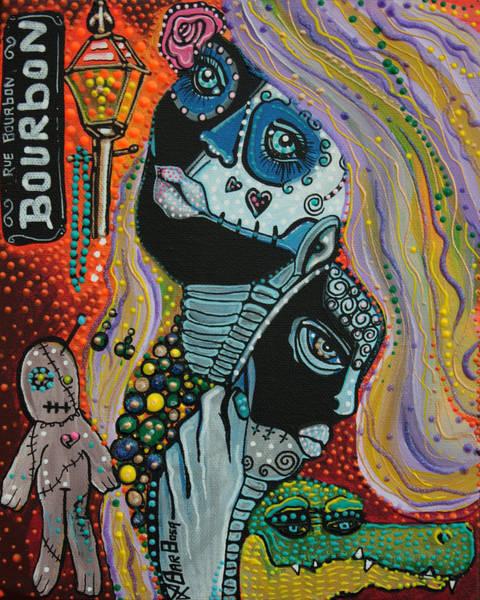 Gators Wall Art - Painting - Dreaming Of Mardi Gras by Laura Barbosa