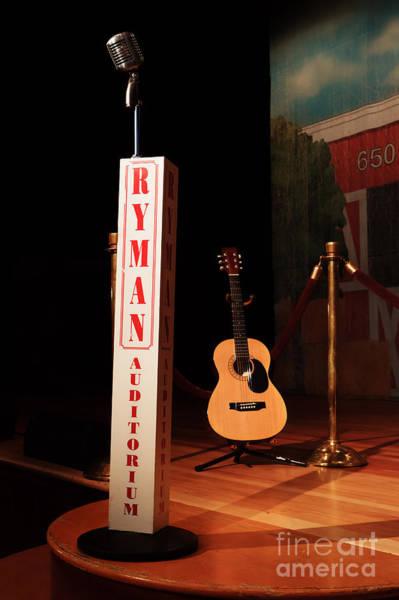 Ryman Auditorium Photograph - Dreaming Of Playing The Ryman by Edward Moorhead