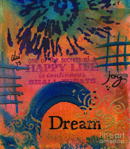 Wall Art - Painting - Dreams Of Joy by Angela L Walker