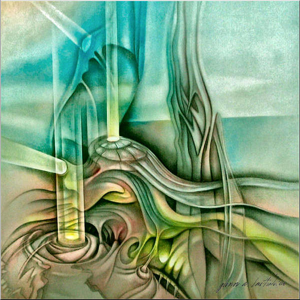 Painting - Dreamscape B 2006 by Glenn Bautista