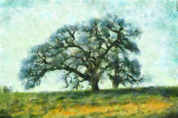 Mixed Media - Dreamtime Oak Tree by Priya Ghose
