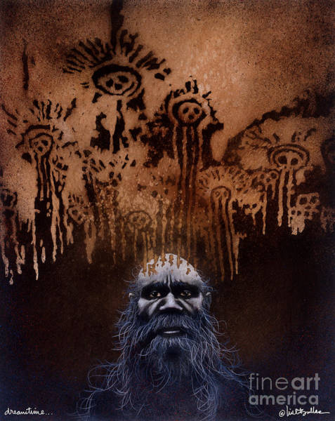 Aborigine Painting - Dreamtime... by Will Bullas