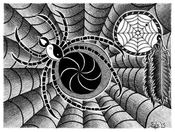 Drawing - Dreamweaver by Barb Cote