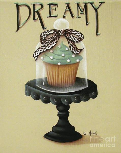 Icing Painting - Dreamy Cupcake by Catherine Holman