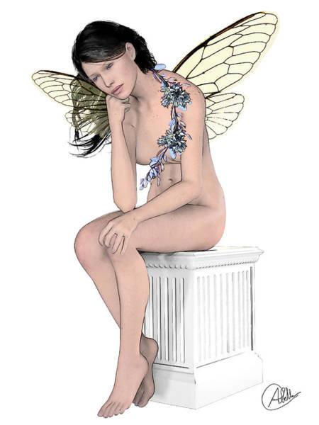 Female Nude Digital Art - Dreamy Fairy by Quim Abella