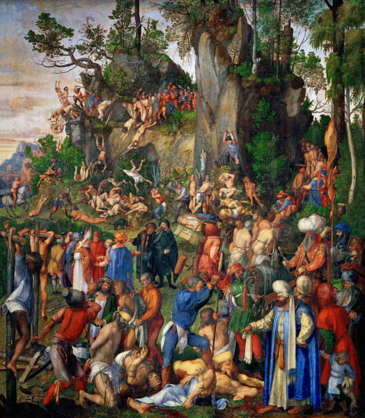 Wall Art - Painting - D�rer Martyrdom, 1508 by Granger