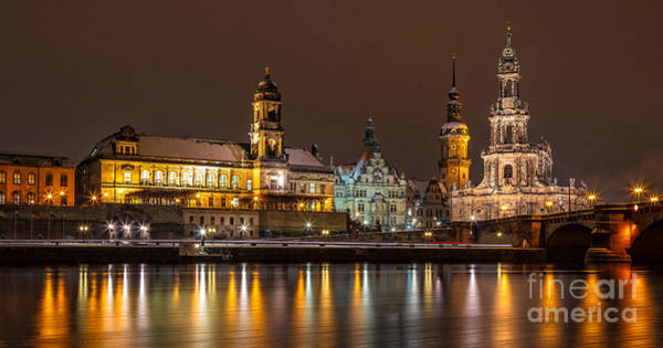 Photograph - Dresden By Night by Bernd Laeschke