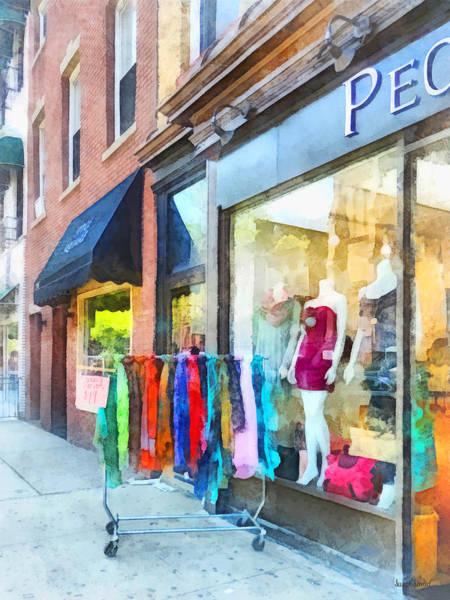 Photograph - Hoboken Nj Dress Shop by Susan Savad