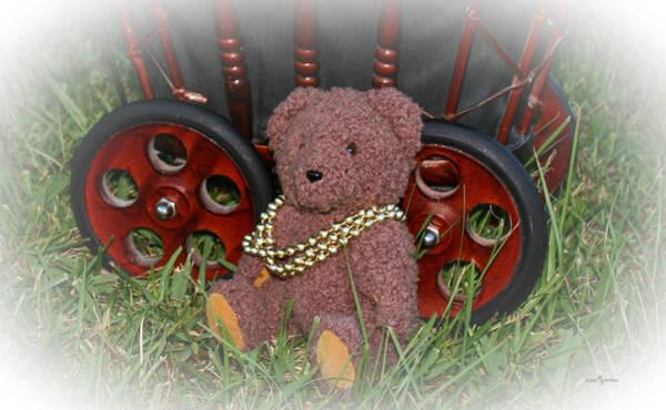Wall Art - Photograph - Dress Up Teddy Bear by Mechala Matthews