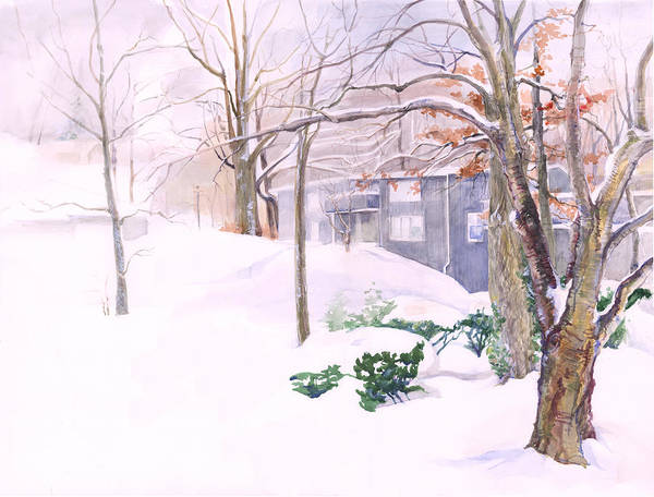 Painting - Dressed In Winter White by Nancy Watson