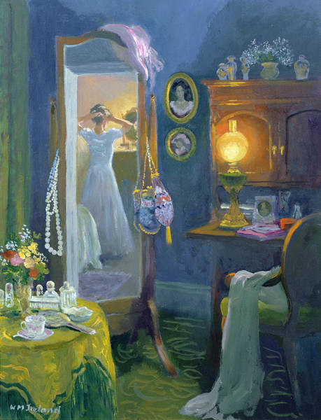 Dressing Photograph - Dressing Room Victorian Style Oil On Board by William Ireland
