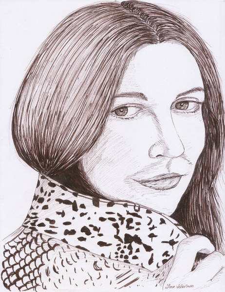 Drawing - Drew Barrymore Sketch by M Valeriano
